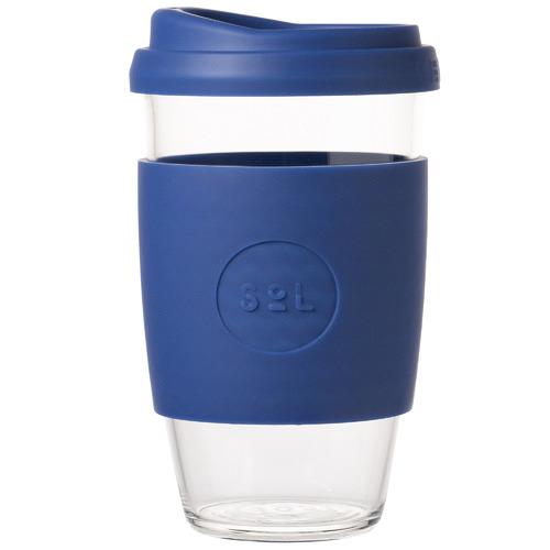 SolCups Winter Bondi Blue 473ml Glass Cup