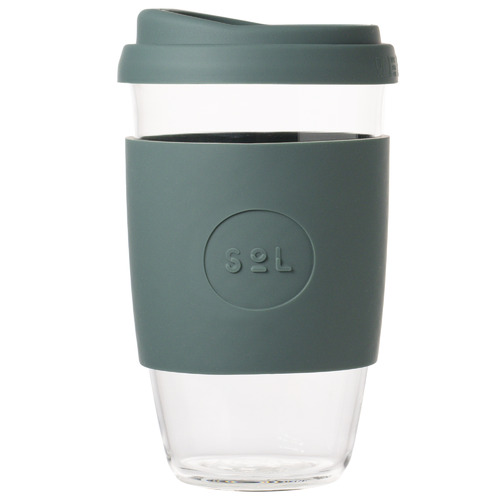 SolCups Deep Sea Green 473ml Glass Cup