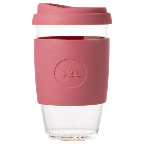 SolCups Radiant Rose 473ml Glass Cup
