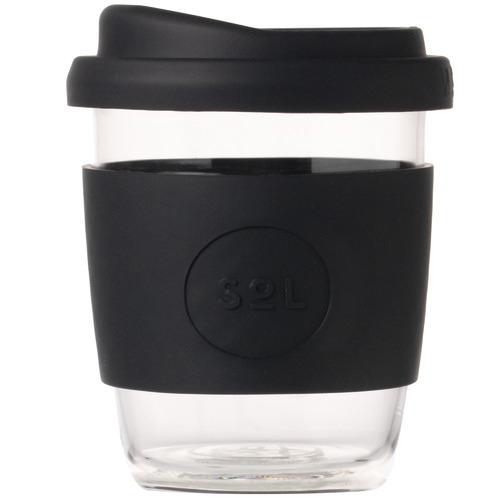 SolCups Basalt Black 236ml Glass Cup