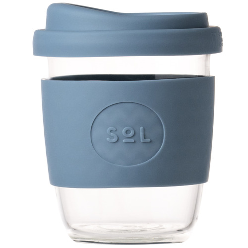 SolCups Blue Stone 236ml Glass Cup