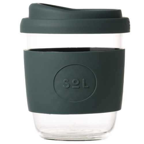 SolCups Deep Sea Green 236ml Glass Cup
