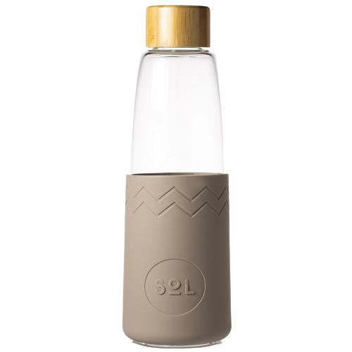 SolCups Seaside Slate 850ml Glass Water Bottle