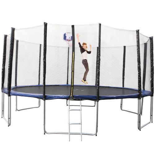 Flex Furniture Jumpee Trampoline with Ladder & Basketball Hoop