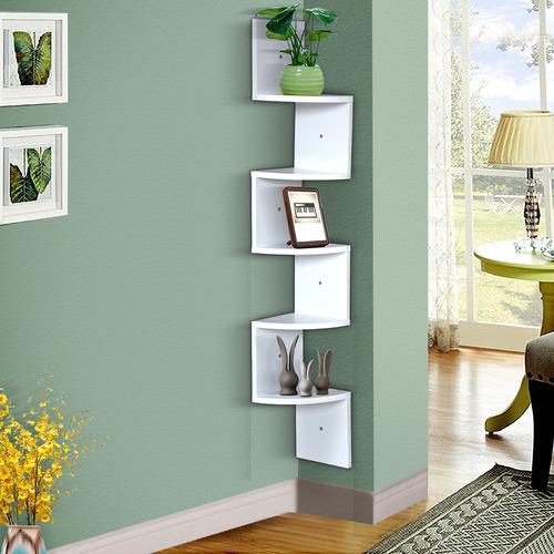 Levede Brooke 5 Tier Modern Corner Wall Shelf