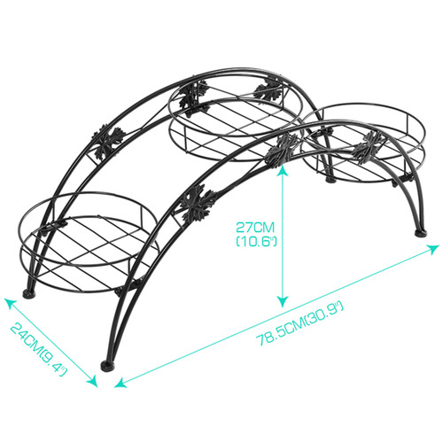 Levede Decor Arch Wrought Iron Flower Rack