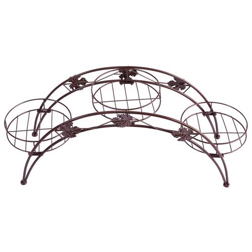 Levede Decor Arch Wrought Iron Flower Rack