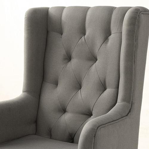 Kaleb Fabric Rocking Armchair