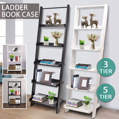 Levede Farrell 5 Tier Wooden Ladder Shelf