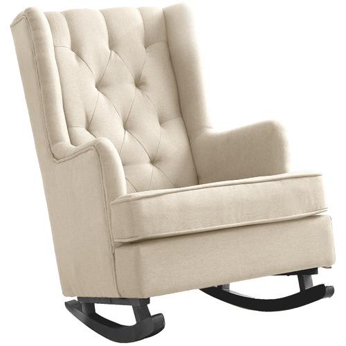 Levede Kaleb Upholstered Rocking Armchair