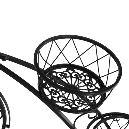 Levede Black Bicycle 3 Tier Steel Pot Plant Stand