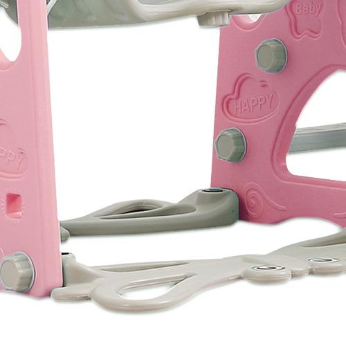 Kids' 3 Piece Pink Terrence Swing & Slide Set