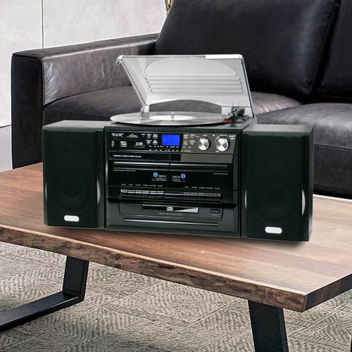 Lenoxx Large Black Home Entertainment System
