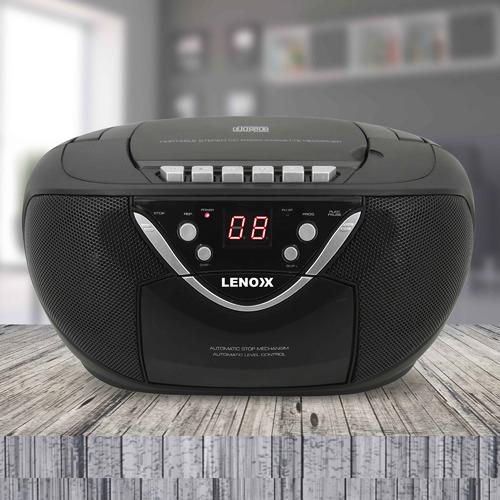 Lenoxx Black Portable Cassette & CD Player