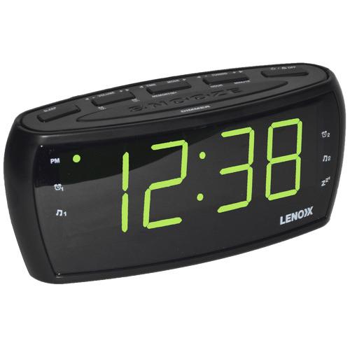 Lenoxx Large Black Digital Alarm Clock