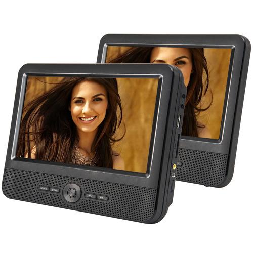 Lenoxx 23cm Twin Screen Portable DVD Player
