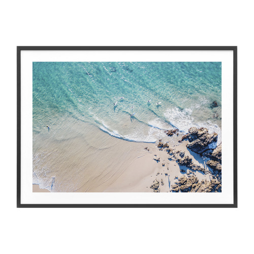 Byron Bay The Pass Framed Print