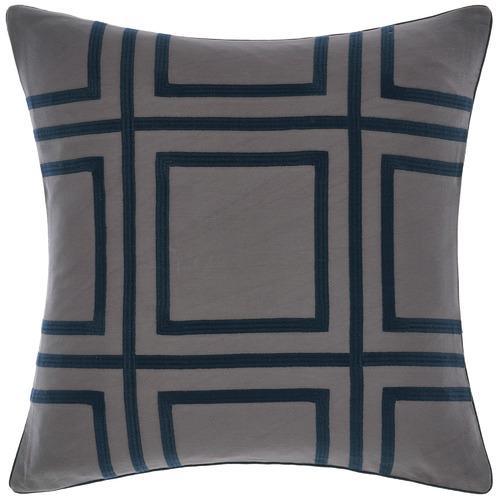 Grace By Linen House Navy Treillage Square Cotton Cushion