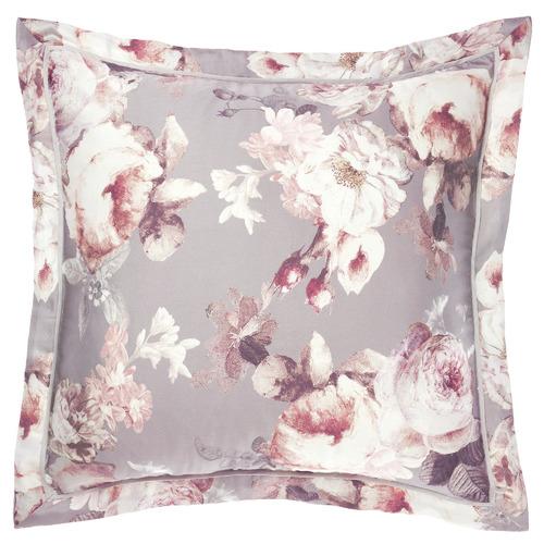 Grace By Linen House Silver Stefania Cotton European Pillowcase