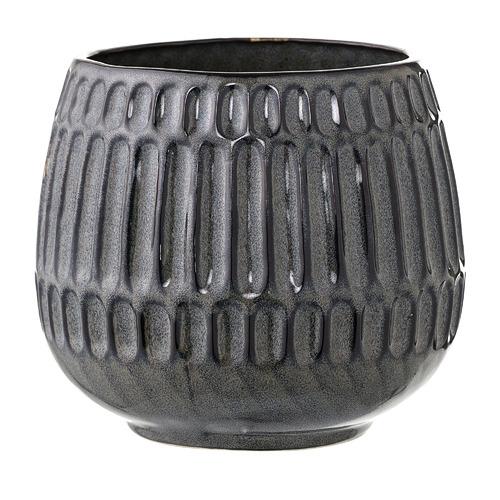 BloomingVille Charcoal Stoneware Planter