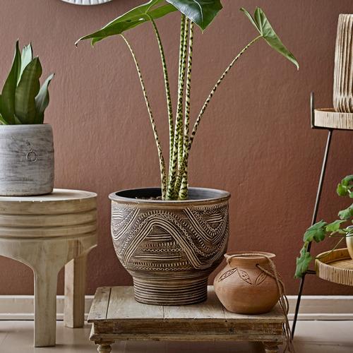 BloomingVille Brown Zuma Terracotta Planter