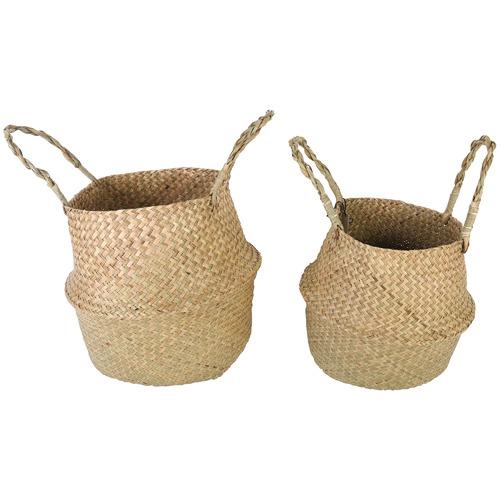 Maine & Crawford 2 Piece Byron Seagrass Basket Set