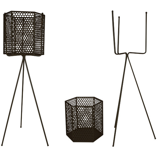 Maine & Crawford 2 Piece Adele Metal Tripod Planter Set