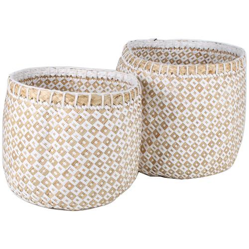 Maine & Crawford 2 Piece Ginkgo Seagrass Basket Set
