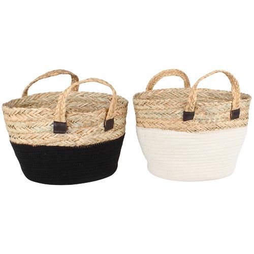 Maine & Crawford 2 Piece Miranda Seagrass Storage Basket Set