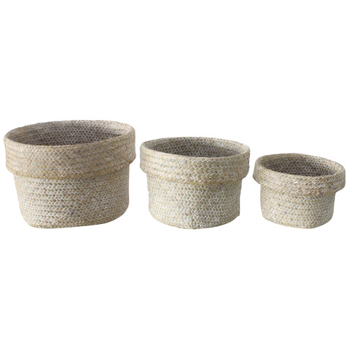 Maine & Crawford 3 Piece Whitehaven Seagrass Basket Set