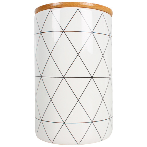 Maine & Crawford Gio 960ml Ceramic Canister with Bamboo Lid