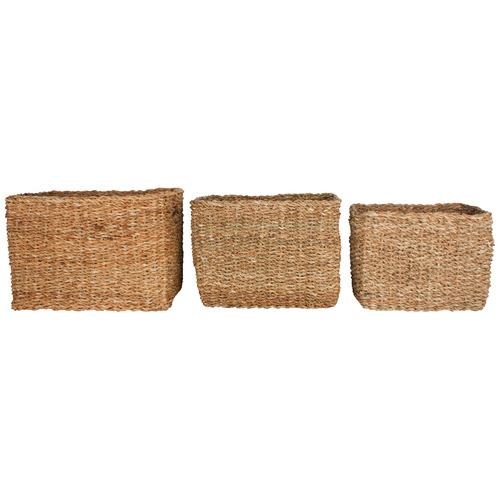 Maine & Crawford 3 Piece Iluka Seagrass Basket Set