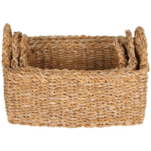 Maine & Crawford 3 Piece Rectangular Bondi Seagrass Basket Set