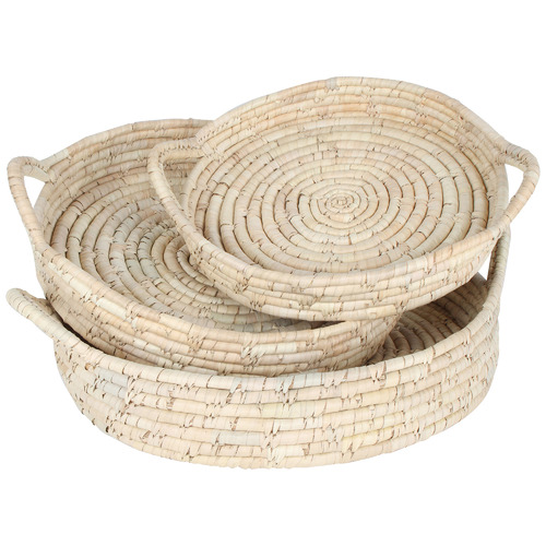 Maine & Crawford 3 Piece Round Cottesloe Kans Grass Tray