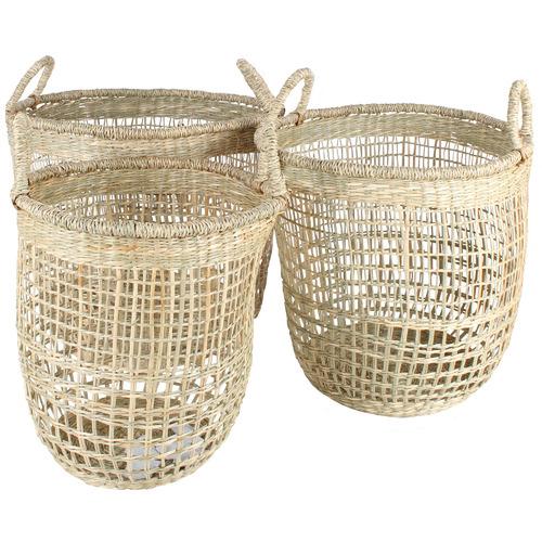 Maine & Crawford 3 Piece Basko Seagrass Basket Set