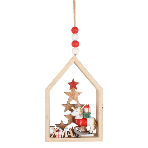 Maine & Crawford 2 Piece Unicorn in House Ornament Set