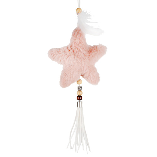 Maine & Crawford 3 Piece Furry Star Balls Hanging Ornament Set