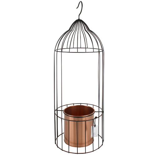 Maine & Crawford Birdcage Bella Metal Hanging Pot Planter