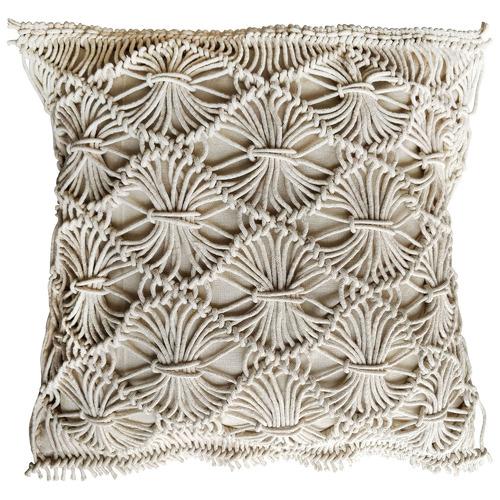 Maine & Crawford Lulu Macramé Fringed Cotton Cushion