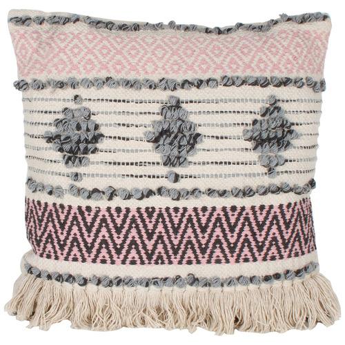 Maine & Crawford Grey & Pink Indra Cotton Cushion