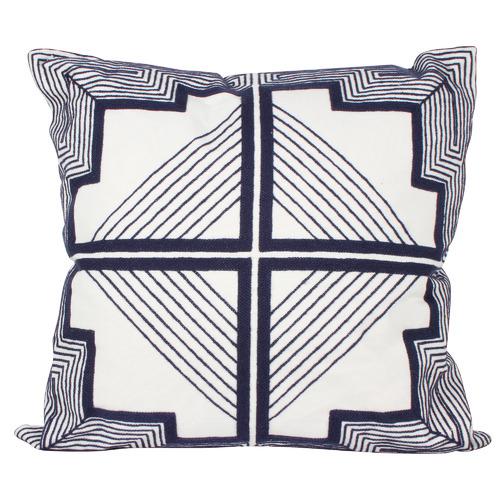 Luca Geo Embroided Cushion