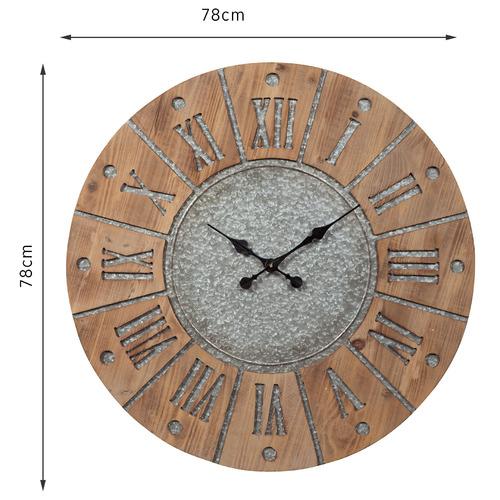 Brown Peyron Vintage Style Round Clock