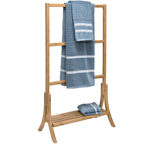 Kest Home 3 Tier Natural Bamboo Towel Rail