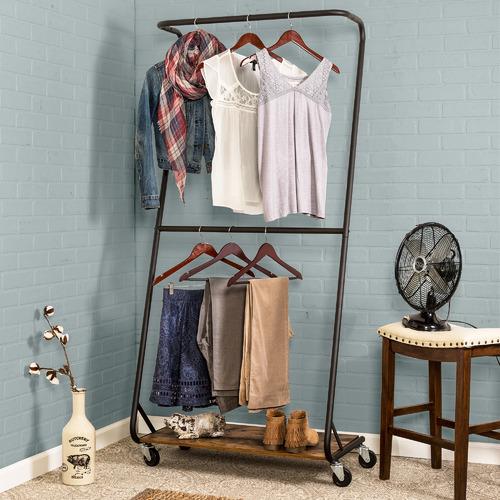 Kest Home Rustic Z-Frame Garment Rack