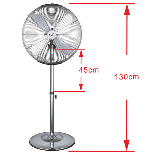 Digilex Chrome Delmer Metal Pedestal Fan