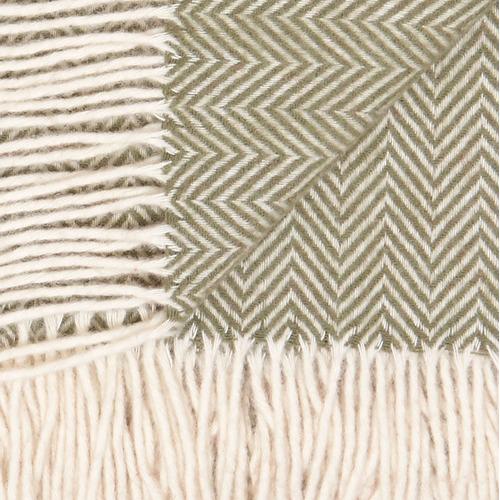 Waverley Mills Herringbone Tasmania Merino Wool Throw