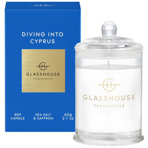 Glasshouse Fragrances Diving Into Cyprus Soy Scented Candle
