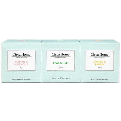Circa Home 3 Piece 60g Scented Soy Candle Set