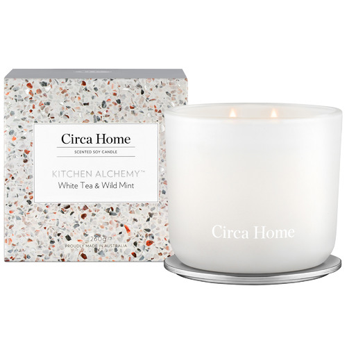 Circa Home 260g Kitchen Alchemy Soy Candle - White Tea & Wild Mint