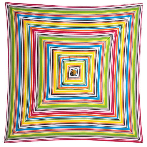Billy Fresh 2m Multi-Coloured Striped Signature Market Umbrella